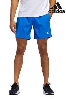 adidas Blue Run It 3 Stack Shorts