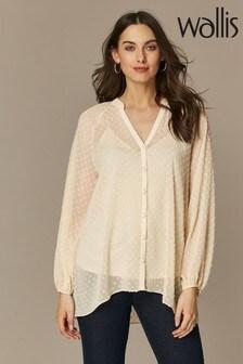 Wallis Floral Blossom Ruffle Shirt