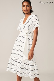 Phase Eight Cream Amelina Cotton Broderie Dress