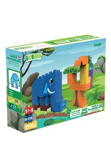 BiOBUDDi Jungle Elephant Toucan 27 Blocks