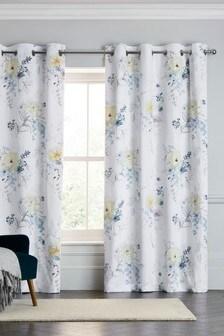 TENCEL™ Floral Eyelet Curtains