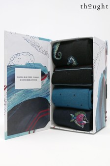 Thought Blue Sunken 6 Pack Sock Box