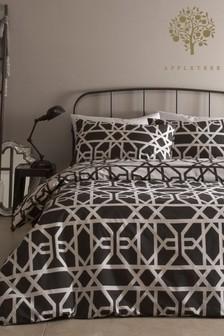 Manila Tellis Geo Duvet Cover and Pillowcase Set by Appletree
