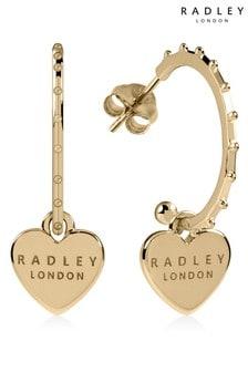 Radley London Sterling Silver Double Engraved Heart Earrings