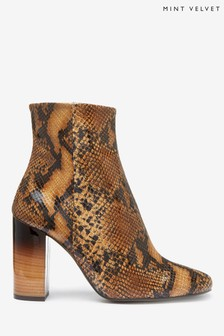 Mint Velvet Lyla Snake Leather Boots