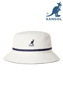 Kangol White Striped Bucket Hat