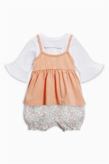 Cami Top And Bloomer Three Piece Set (0mths-2yrs)