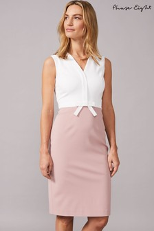 Phase Eight Pink Loanne Seam Detail Dress