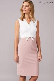 Phase Eight Pink Loanne Seam Detail Dress