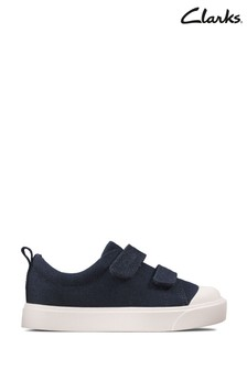 Clarks Navy Canvas City Bright T Canvas Shoes