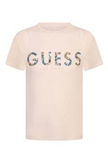 Girls Cotton Logo T-Shirt