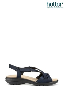 Hotter Blue Lucy Touch Fastening Open Sandals