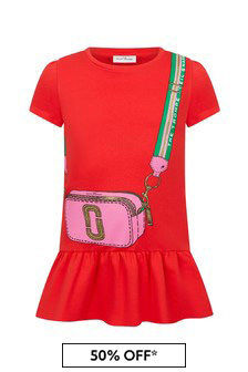 Marc Jacobs Girls Red Cotton Dress