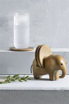 Set of 4 Elephant Coaster Holders