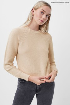 French Connection Brown Lilly Mozart Crew Neck Jumper