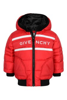 Baby Boys Red Down Padded Jacket