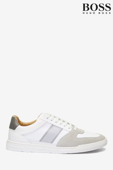 BOSS White Cosmopool Trainers