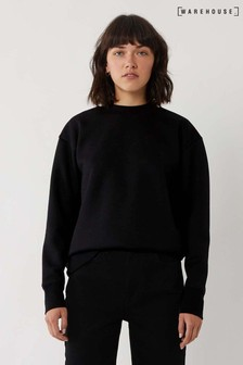 Warehouse Black Funnel Neck Sweater