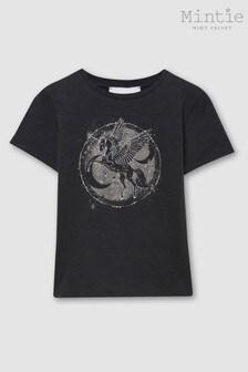 Mintie by Mint Velvet Grey Unicorn Print T-Shirt