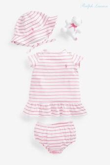 Ralph Lauren Pink Stripe Dress Set