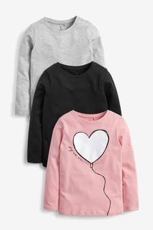 3 Pack Long Sleeve T-Shirts (3-16yrs)