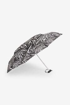 Zebra Print Compact Umbrella