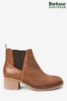 Barbour® Keren Cognac Suede Ankle Boots