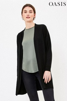 Oasis Black Open Front Cardigan