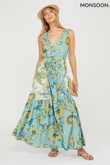 Monsoon Sarasa Ecovero Printed Maxi Dress