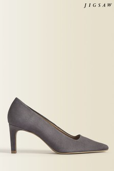 Jigsaw Grey Delia Suede Court Shoes