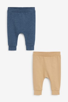 2 Pack Slim Joggers With Stretch (0mths-2yrs)