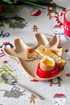 Rudolph Egg And Soldiers Plate