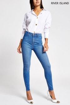 River Island Blue Kaia Bulldog Skinny Jeans