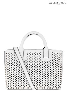 Accessorize White Cut Out Handheld Bag