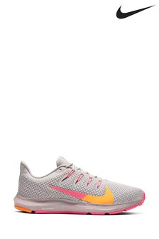 Nike Run Grey/Pink Quest 2 Trainers