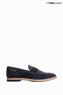 Base London Blue Combie Slip-On Penny Loafers