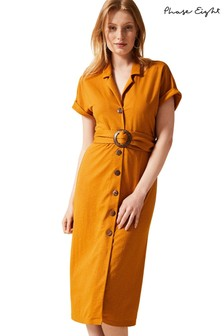 Phase Eight Yellow Jamelia Shirt Dress