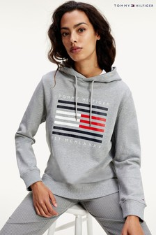 Tommy Hilfiger Grey Flag Lines Hoody