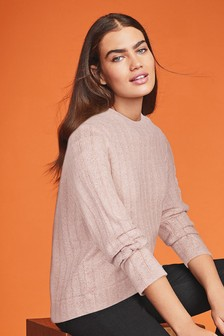 Cosy Long Sleeve Pointelle Top
