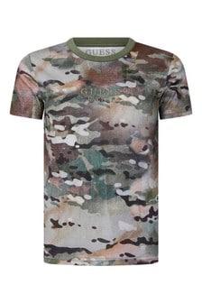 Boys Camouflage Print Cotton T-Shirt