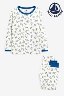 Petit Bateau White Multicoloured Leopard Pyjamas