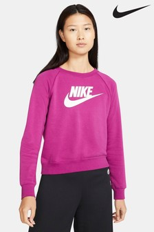 Nike Sportswear Essential Pink Fleece Sweat Top
