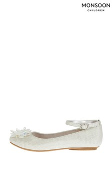 Monsoon Silver Shimmery Shoes