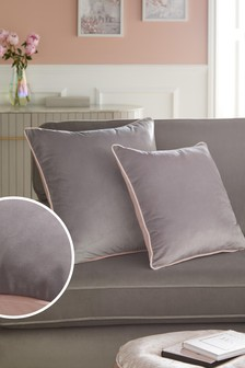 Mila Twin Velvet Large Square Cushion