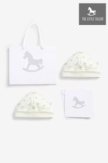 The Little Tailor Cream 2 Pack Rocking Horse Hat Gift Set