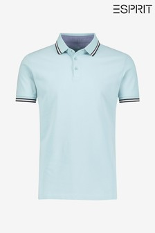 Esprit Blue Pique Polo Shirt