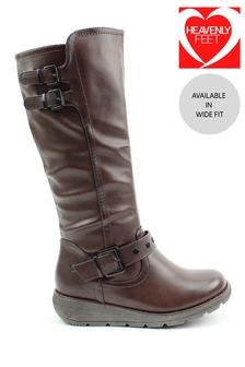 Heavenly Feet Brown Ladies Tall Boots