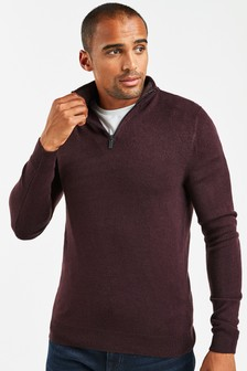Soft Touch Zip Neck Jumper