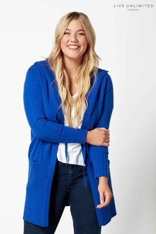 Live Unlimited Blue Hooded Cardigan