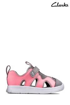 Clarks Pink Ath Surf T Sandals
